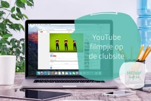 YouTube-filmpje op de clubsite