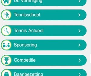 Iconen in de website navigatie