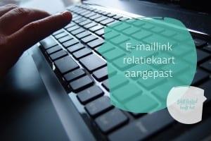 E-maillink in relatiekaart aangepast