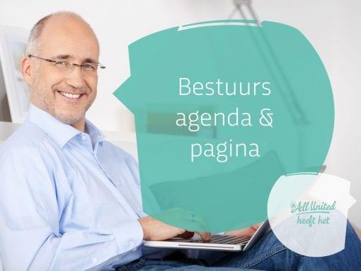 Bestuurs agenda & bestuurspagina's