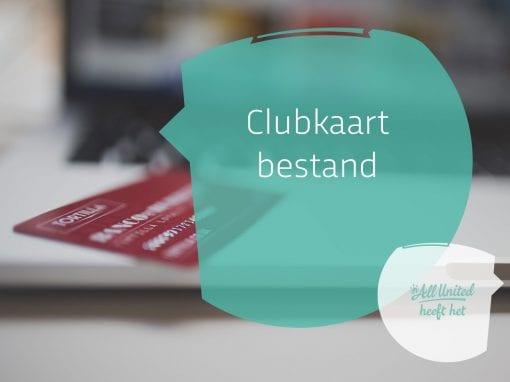Clubkaart bestand