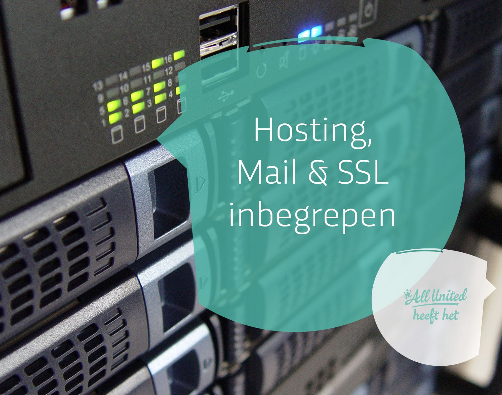 Hosting, SSL & Mail inbegrepen