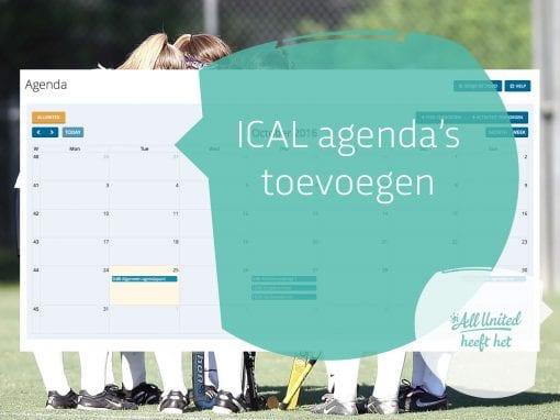 RSS Feeds en ICAL agenda's