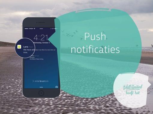 Push notificaties, ook aan groepen