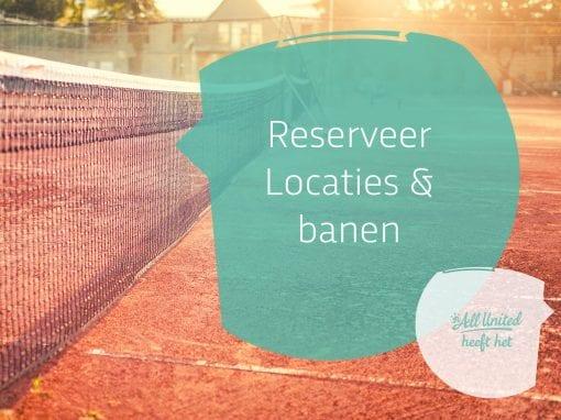 Reseveren van locaties (in ontwikkeling)
