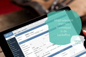 Kruimelpad in de backoffice