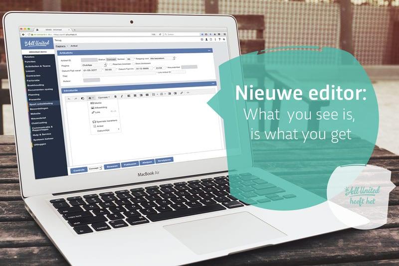 Nieuwe website editor [UPDATE 3 Mei]