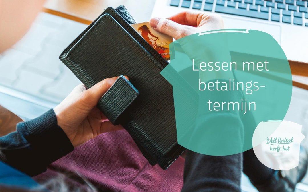 Betalingstermijnen voor lessen en cursussen