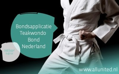 AllUnited levert bondsapplicatie voor Taekwondo Bond Nederland