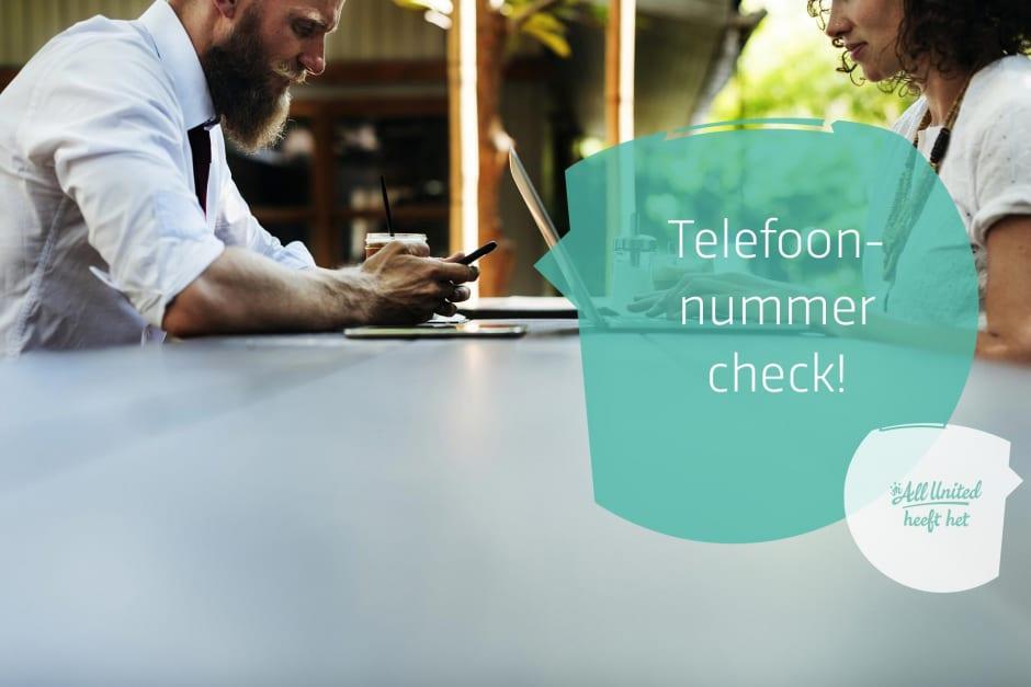 [Nieuw] Telefoonnummer check op de inschrijfformulieren!
